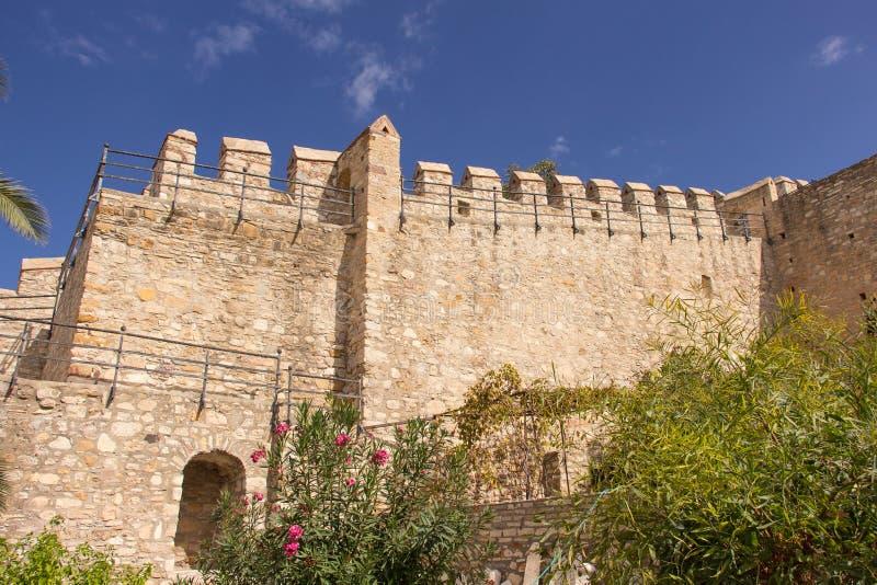 ochrony średniowieczna ściana fotografia stock