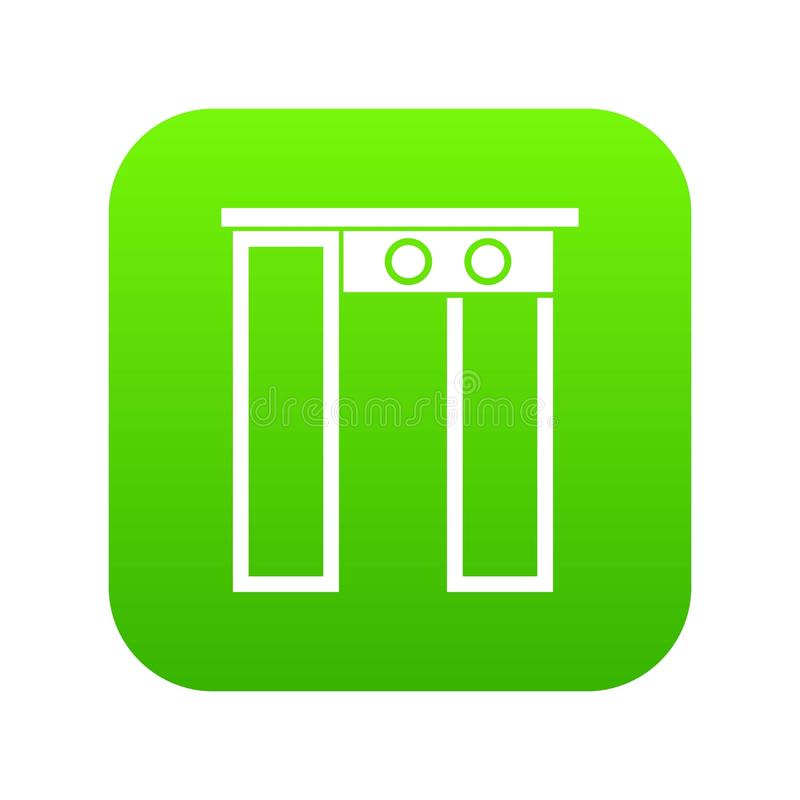 Ochrony brama przy lotniskowej ikony cyfrową zielenią ilustracji