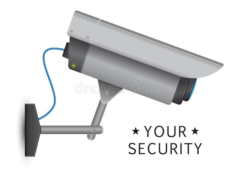 Ochrony cctv kamera royalty ilustracja