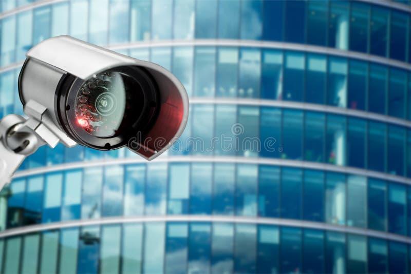 Ochrony CCTV kamera w budynku biurowym zdjęcie stock