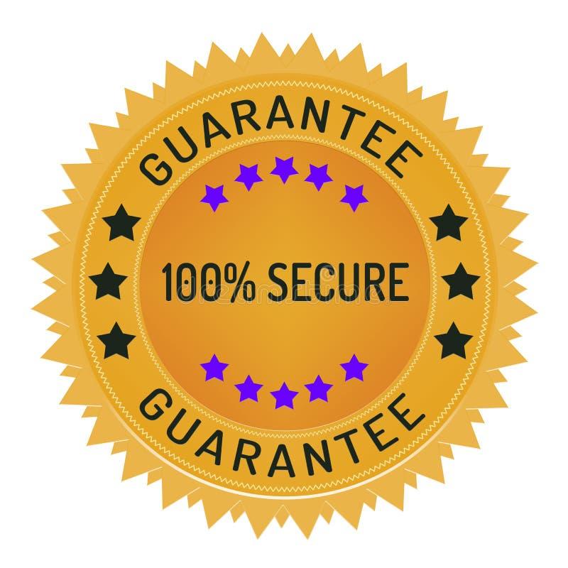 Ochrony i dane ochrony znaczek odizolowywający na bielu zdjęcie stock