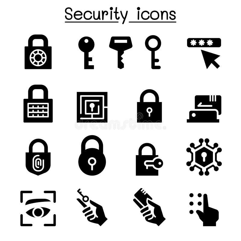 Ochrony ikony set ilustracja wektor