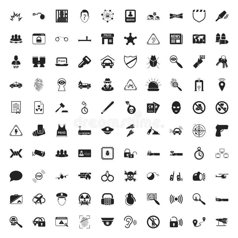 Ochrony 100 ikony ustawiać dla sieci ilustracji