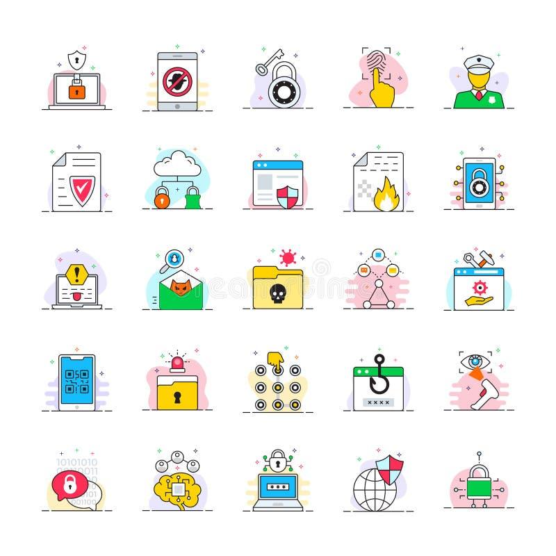 Ochrony & ochrony ikony ustawiać royalty ilustracja