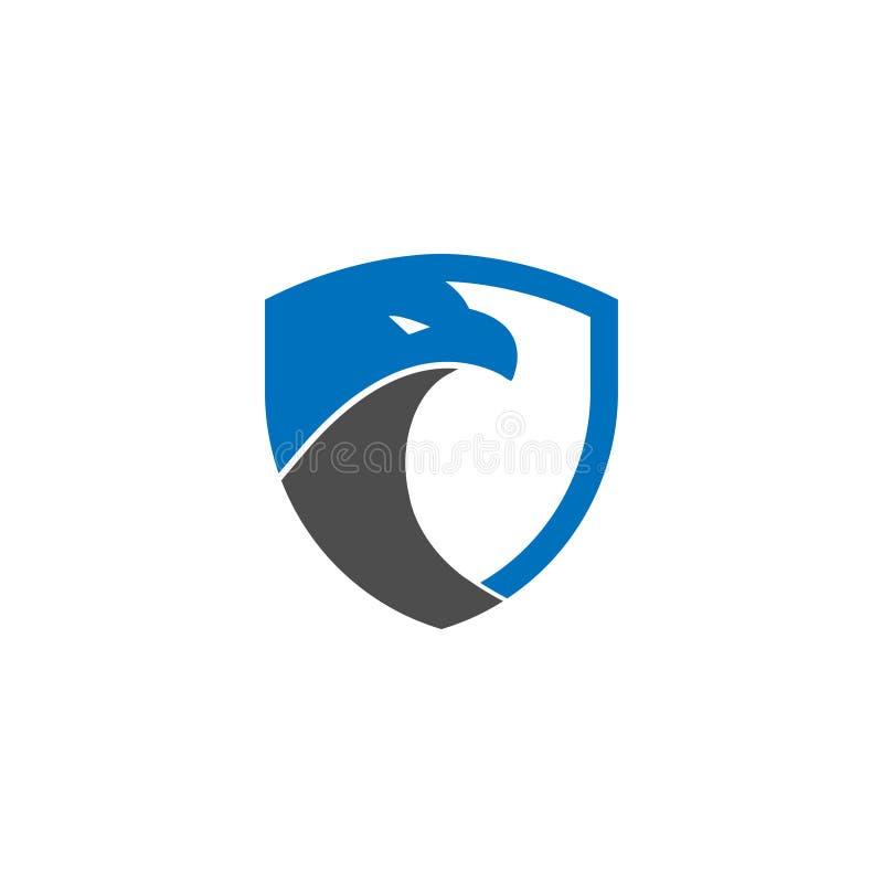 Ochrony osłony orła loga projekta szablon ilustracji