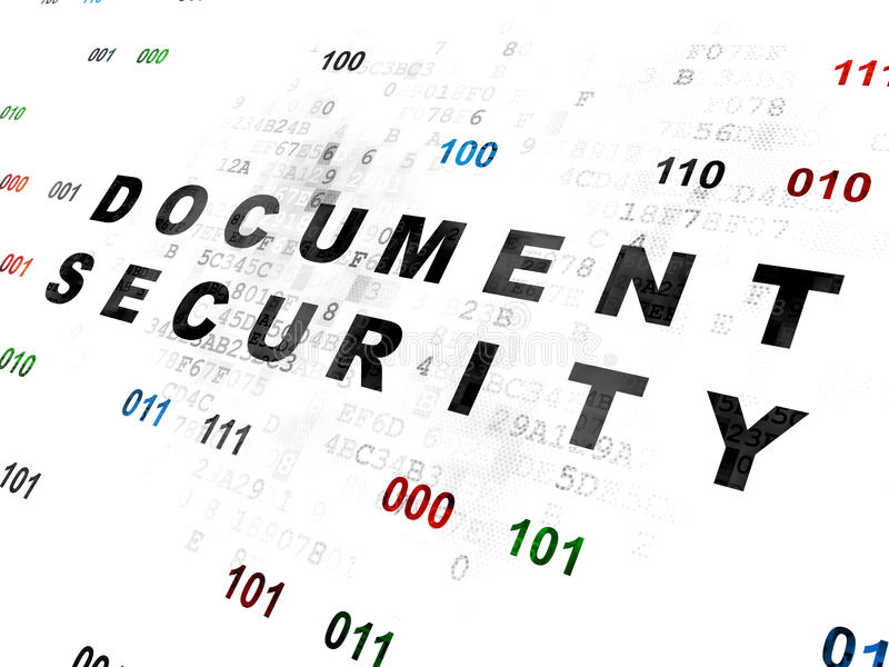Ochrony pojęcie: Dokument ochrona na Digital zdjęcia royalty free