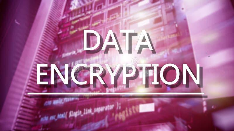 Ochrony poj?cie: Dane utajnianie na cyfrowym superkomputeru tle fotografia royalty free