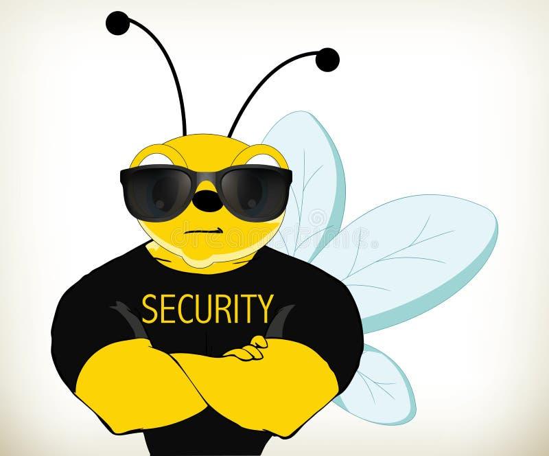 Ochrony pszczoła royalty ilustracja