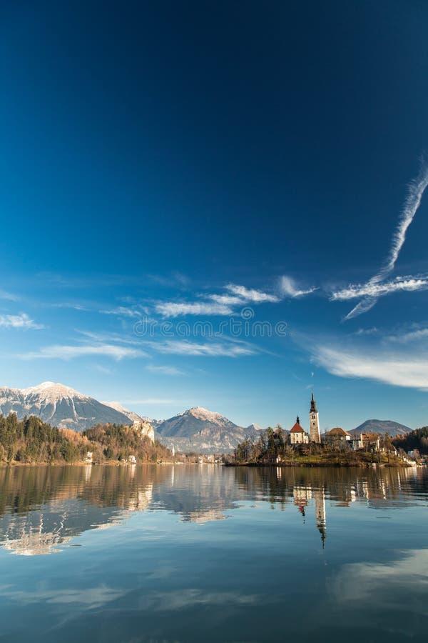 Ochtend bij het meer van Afgetapt royalty-vrije stock foto