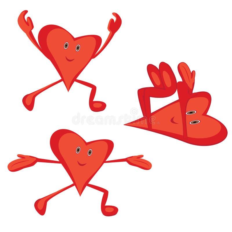 Ochtend cardiooefeningen voor een gezond hartconcept vector illustratie