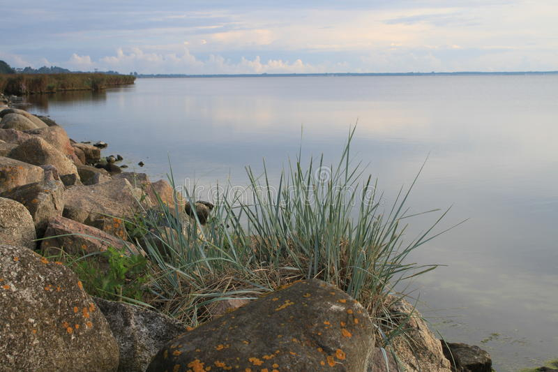 Ochtend in de Baai van Puck, Polen stock afbeelding