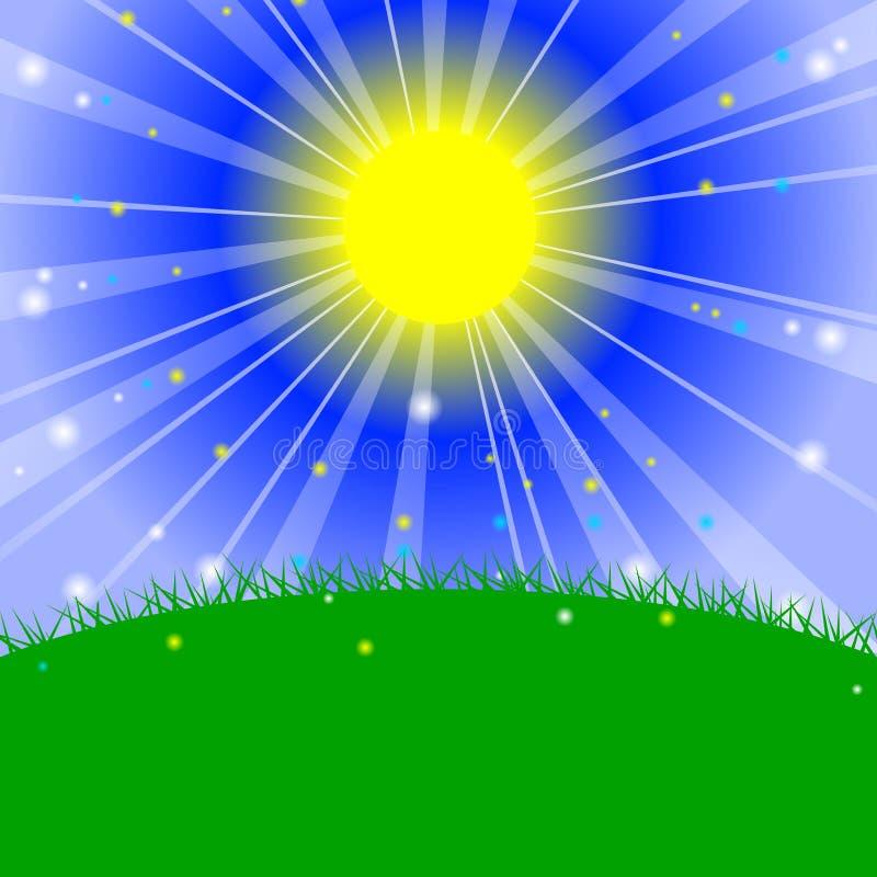 Download Ochtend in de weide vector illustratie. Illustratie bestaande uit landschap - 29508245