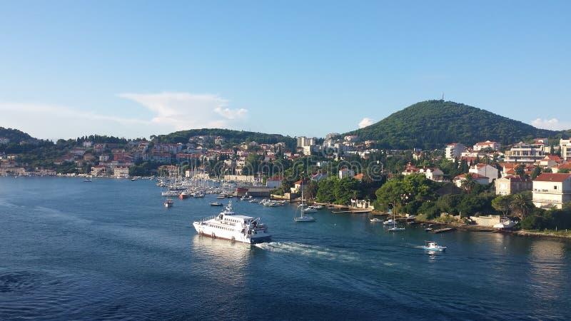 Ochtend in Dubrovnik stock afbeeldingen