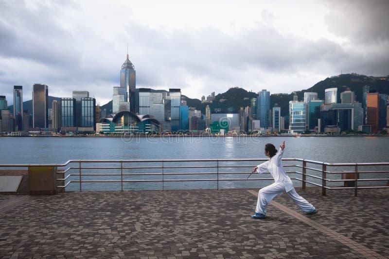 Ochtend Hong Kong stock afbeeldingen