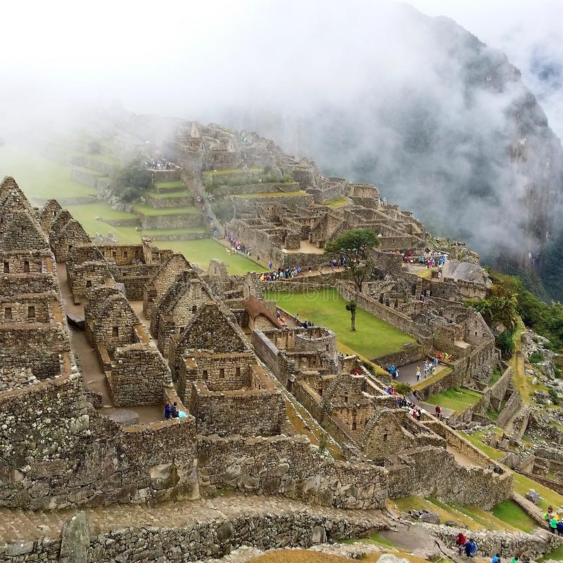 Ochtend in Machu Picchu royalty-vrije stock foto's