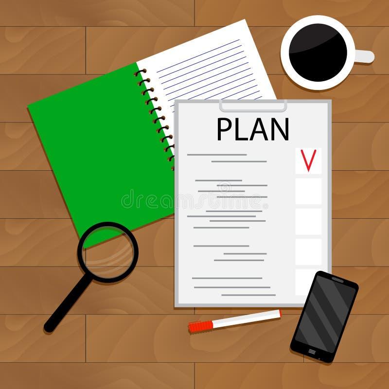 Ochtend Planning van Dag royalty-vrije illustratie