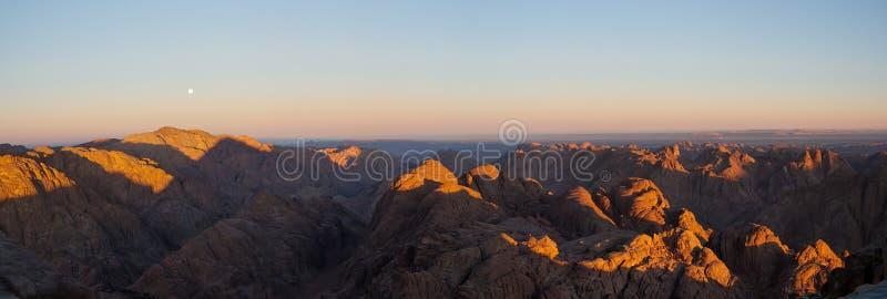 Ochtend in Sinai stock foto's