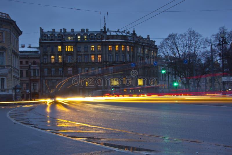Ochtend in St. Petersburg stock afbeeldingen