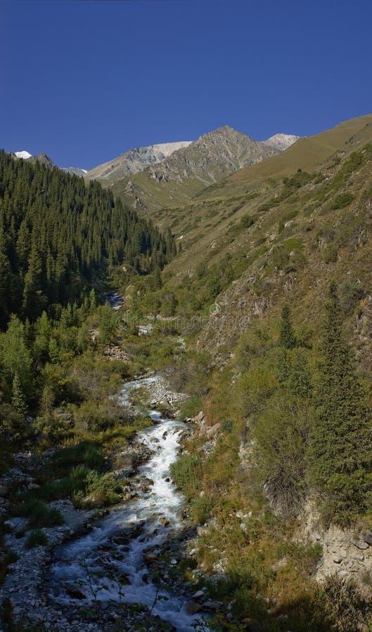 Ochtend in vallei Adegine stock afbeelding