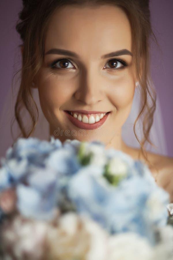 Ochtend van de Bruid Portret van de bruid royalty-vrije stock afbeeldingen