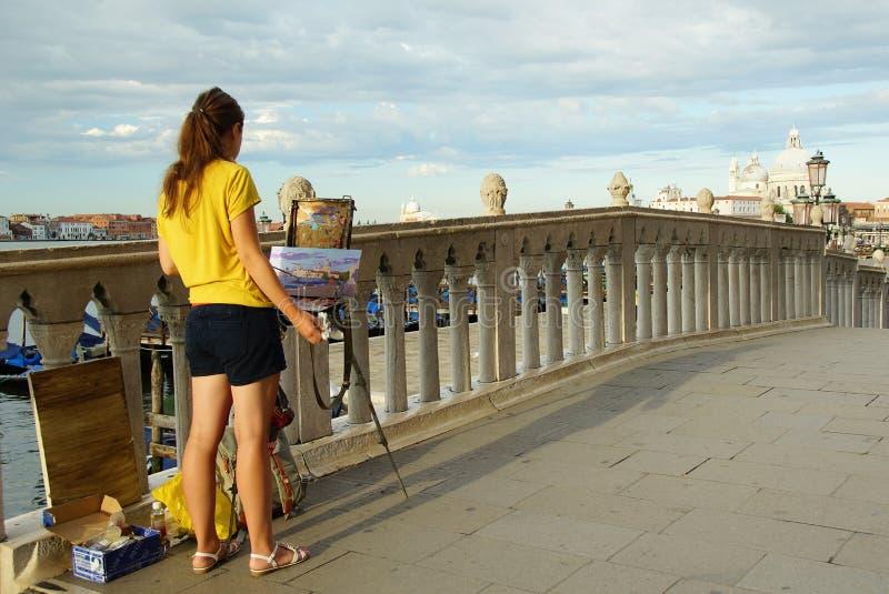 Ochtend in Venetië stock foto's