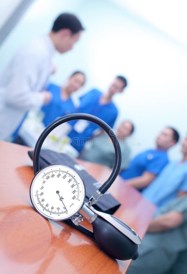 Ochtendbriefing van medisch personeel royalty-vrije stock foto's