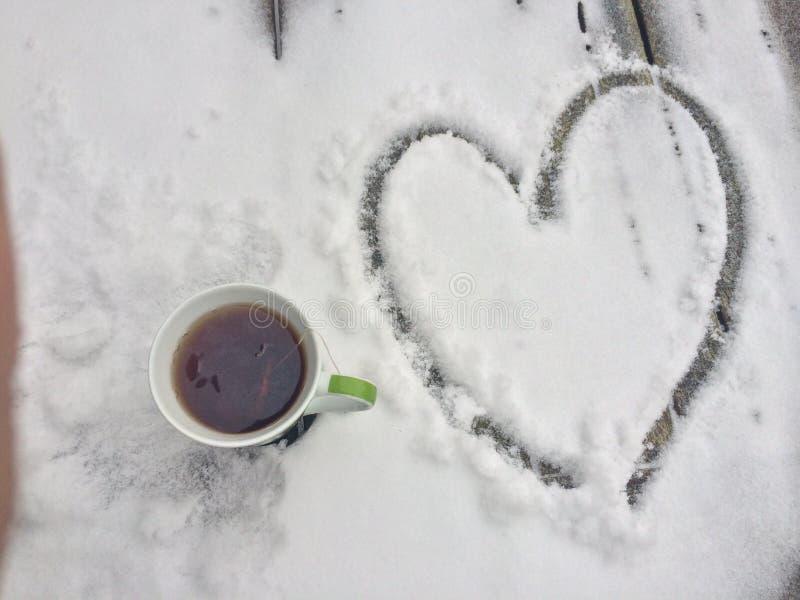 Ochtendkoffie met liefde stock foto