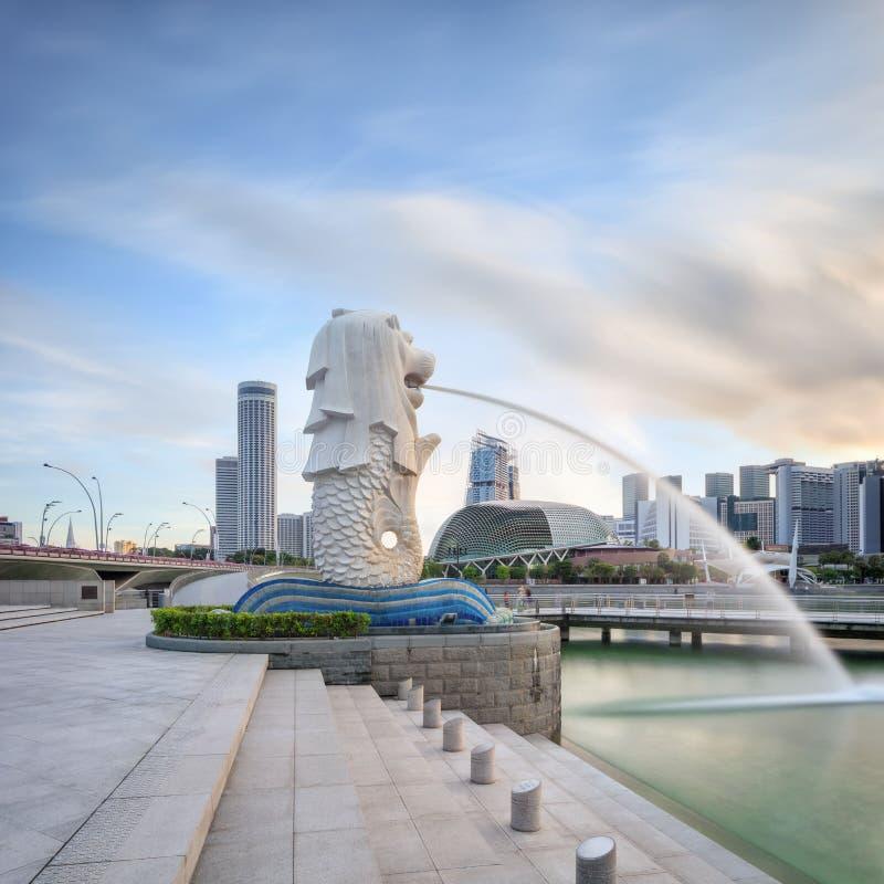 Ochtendmening van centraal Singapore royalty-vrije stock afbeeldingen