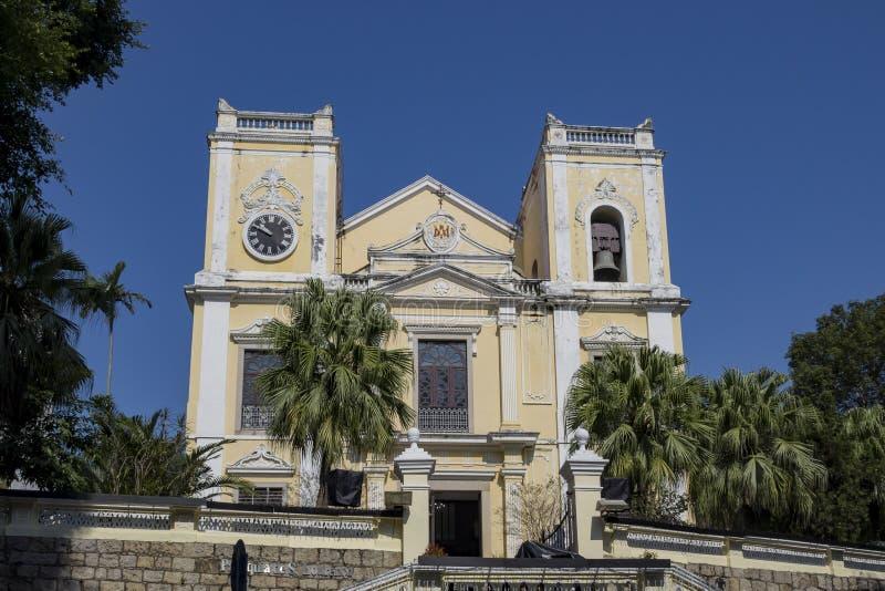 Ochtendmening van St Joseph Seminarie en Kerk royalty-vrije stock afbeelding