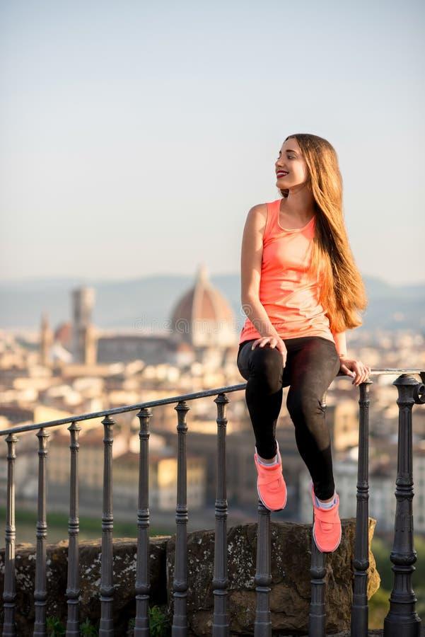 Ochtendoefening in Florence stock fotografie