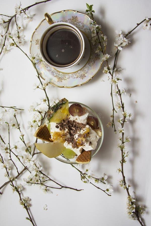Ochtendontbijt in bloei royalty-vrije stock fotografie