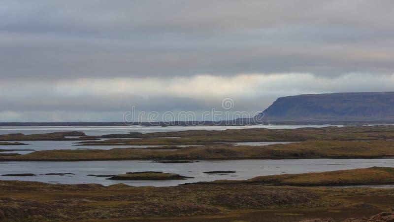 Ochtendscène in westfjords van IJsland royalty-vrije stock afbeelding