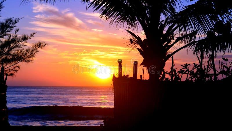 Ochtendschoonheid van strand stock foto