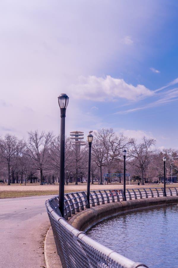 Ochtendtijd van een park royalty-vrije stock foto's