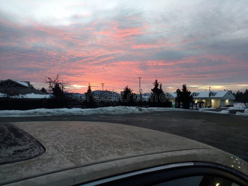 ochtendzonsondergang stock fotografie