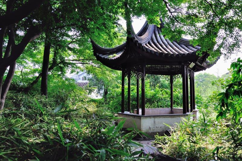 Ociągający się ogródu krajobraz zdjęcia stock