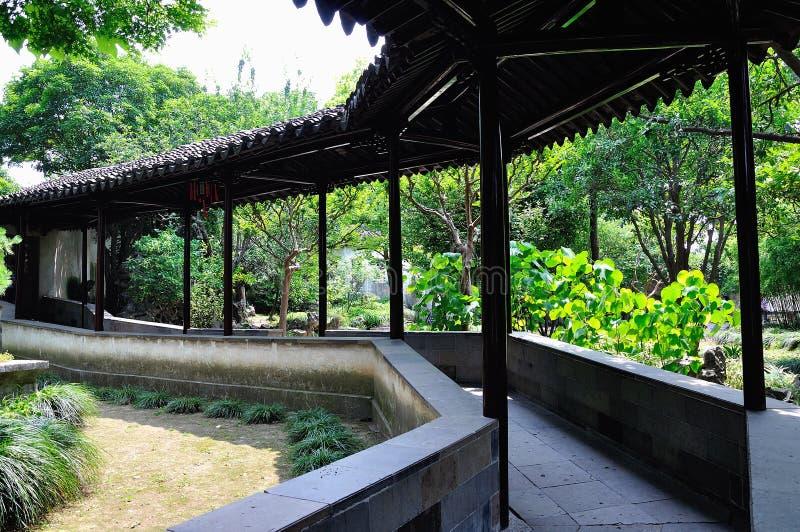 Ociągający się ogródu krajobraz zdjęcie stock