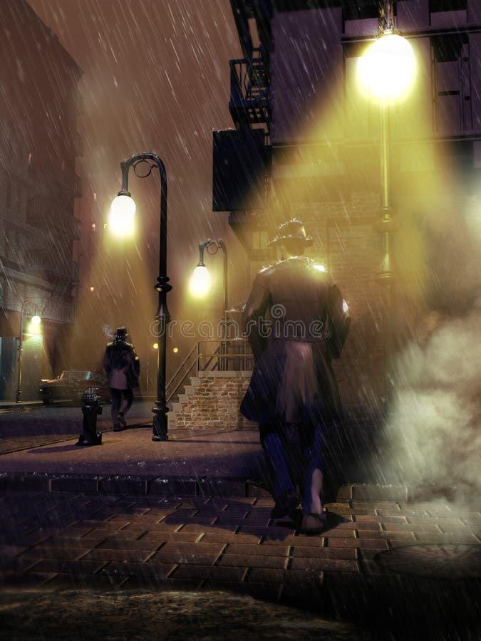 Ocieniać przy nocą ilustracji
