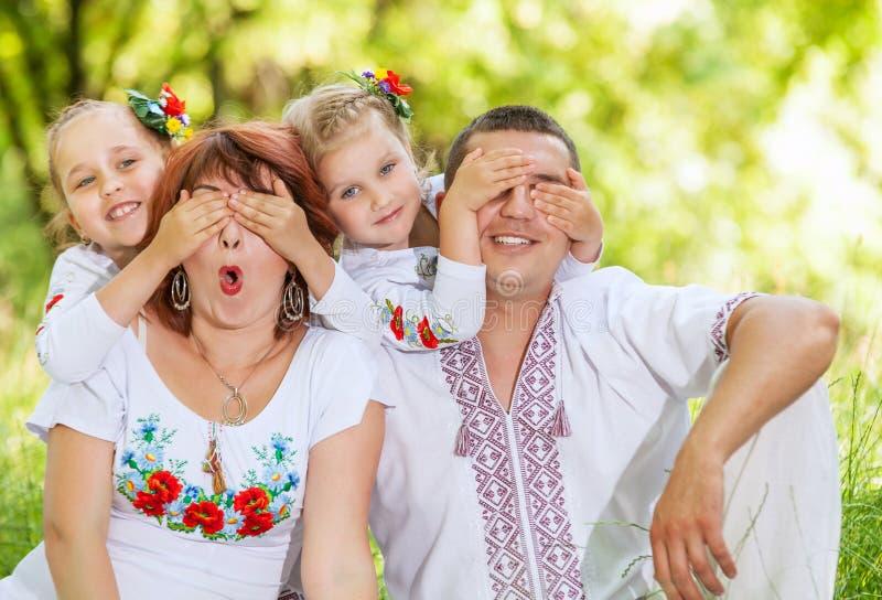 Ocio de la familia de la diversión fotos de archivo