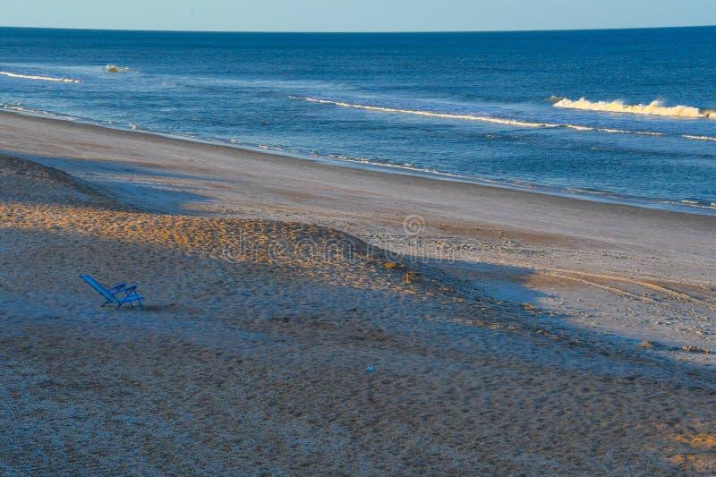 Ocioso vacío en la playa fotografía de archivo