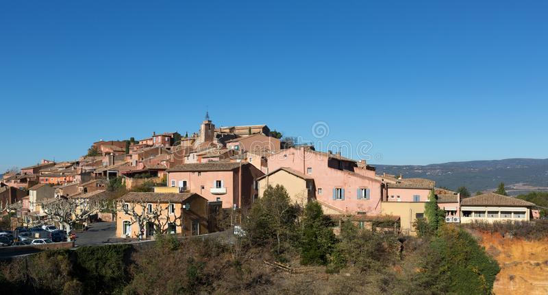 Ocker von Roussillon in Luberon - Provence - Frankreich stockfoto