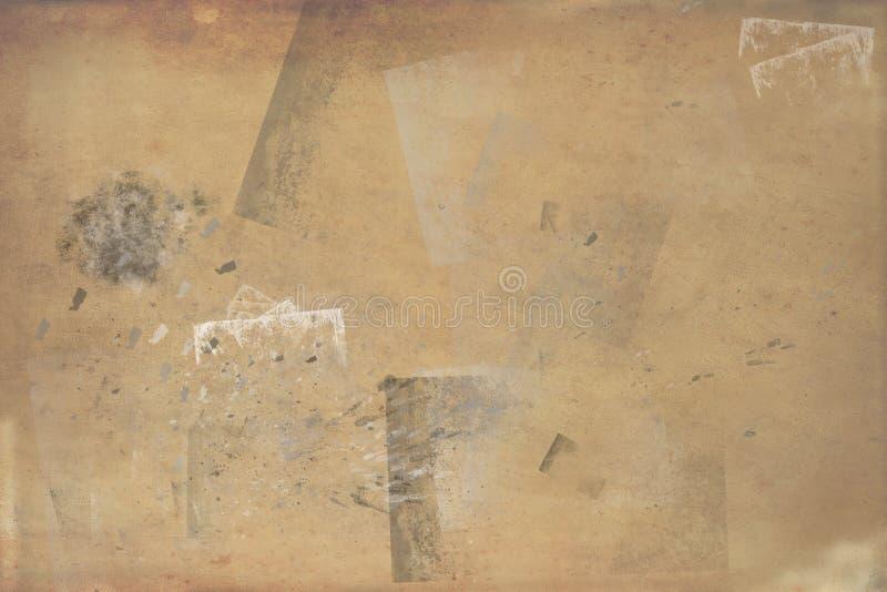 Ockerhaltige Beschaffenheiten des Schmutzes - perfekter Hintergrund mit Raum für Text oder Bild lizenzfreie abbildung