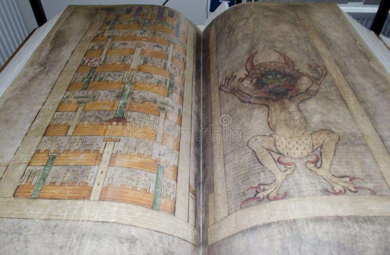 också kallade bibeln codexjäkelgigas s royaltyfri bild