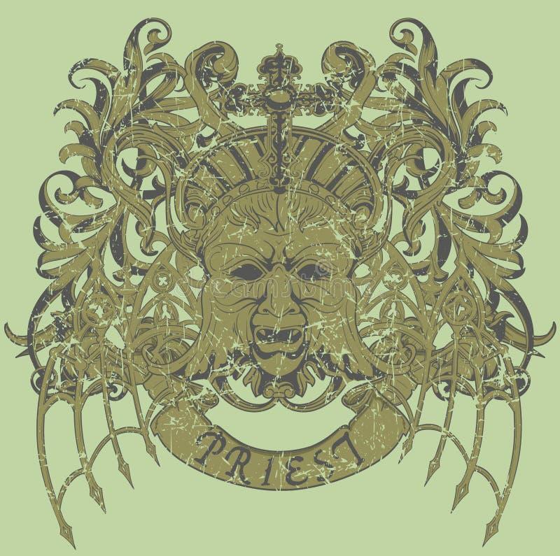 Prästvektor royaltyfri illustrationer
