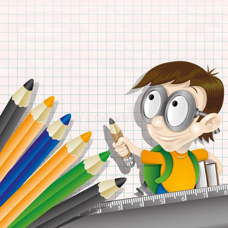 också vektor för coreldrawillustration elev royaltyfri illustrationer