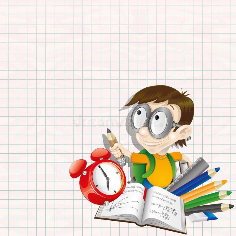också vektor för coreldrawillustration elev vektor illustrationer