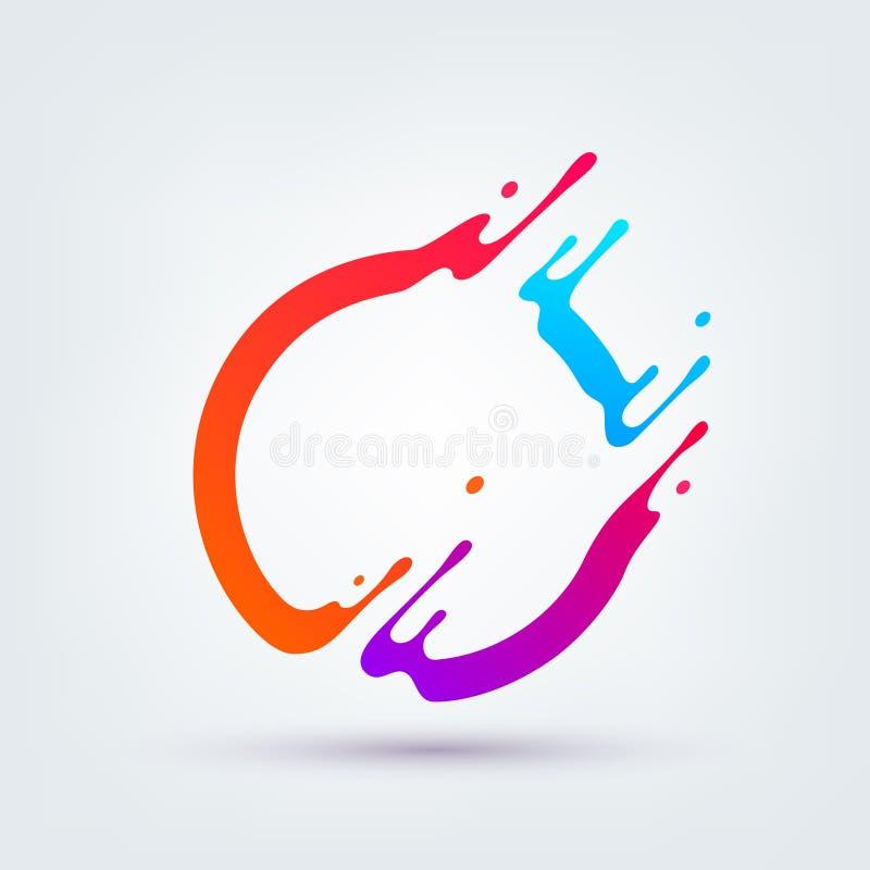 också vektor för coreldrawillustration färgrik abstrakt cirkel stock illustrationer