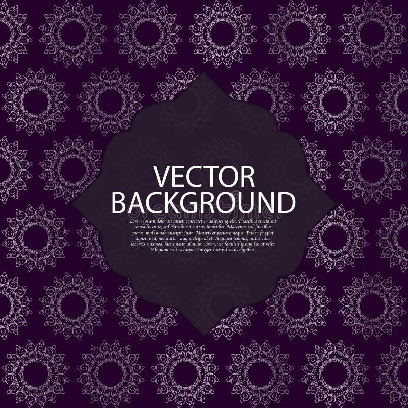 också vektor för coreldrawillustration Härlig bakgrundsmonogram royaltyfri illustrationer