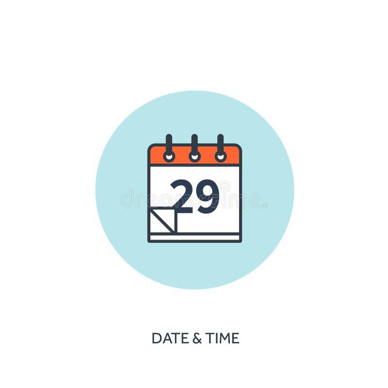också vektor för coreldrawillustration Kalendern fodrade symbolen Datumtid Ferieplanläggning vektor illustrationer
