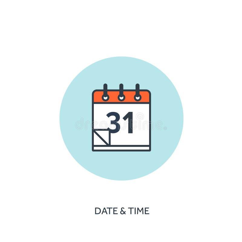 också vektor för coreldrawillustration Kalendern fodrade symbolen Datumtid Ferieplanläggning royaltyfri illustrationer
